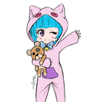 Kitty cat onesie by YurisYu
