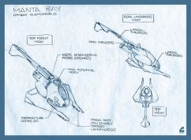 Manta Ray Submersible Fighter by RobCaswell