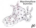 Sketch (13) Marshmallow bunnies for MariaReigosa by Valaquia