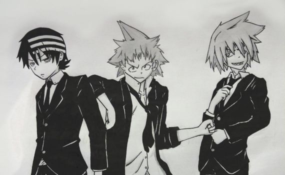 Soul Eater: Kid, Black Star and Soul by TheBlinkFest