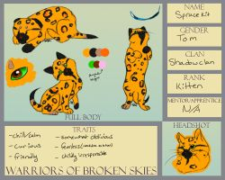 Sprucekit Reference Sheet - WoBS by silver-moonwolf