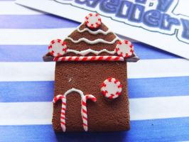 Gingerbread House Brooch 4 by tyney123