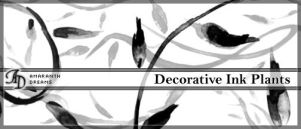 Decorative Inked Plants by elestrial