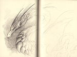 Sketchpage - some dragon by Mystalia