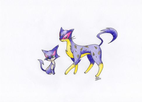 Purrloin and Liepard by Camie01