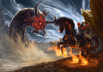 Fighting the Stygian by Tharalin