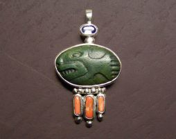fish stone pendant by morpho2012