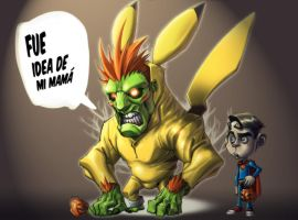 street fighter blanka - chu by Rick-Lee