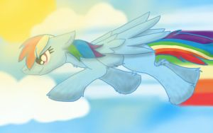 Flyin' through the Sky by TheDemonAngelWolf