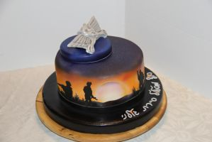 infintry airbrushed cake by mysweetstop