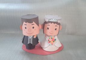 Wedding Papercraft by Mironius