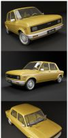 Fiat 128_Yellow by elminavilo