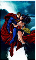 Superman and Wonderwoman by Leackim7891