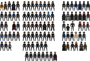 Nightwing 100 Pieces by MicroTraceour