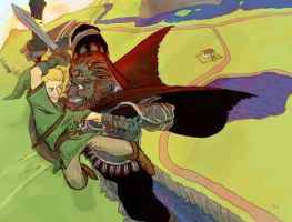 Link vs. Ganondorf for Kris by Dogmeatlives