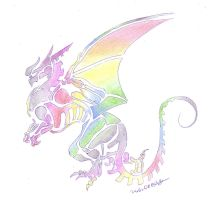 the rainbow dragon by SolidSake