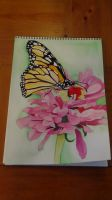 Day in the life of a Monarch (Watercolor) by EcCenTricN8tive26