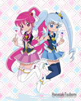 Cure Lovely y Cure Princess -Heartcatch version- by HanasakiTsubomi