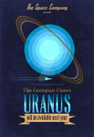 The Space Company: Uranus Poster by rgperez