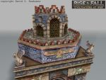 Rise and Fall game building: Persian Temple detail by TheArtOfSanhueza