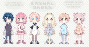 Adoptable: Casual Babes Batch 3 [CLOSED] by kanodraw