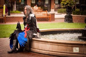 At the fountain 4 by Lady-Sephiroth