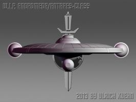 W.I.P. ANDROMEDA/ANTARES-CLASS Ortho-002-Front by ulimann644