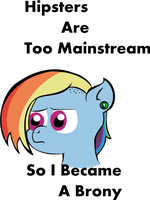 Hipster Rainbow Dash by lordcurly972