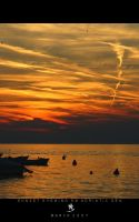 Sunset Evening On Adriatic Sea by science10