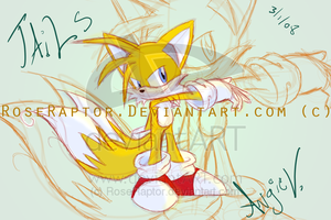 OMG tails doodle - RoseRaptor by TailsFanclub