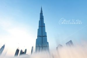 Burj Khalifa with Dubai Fountain by ahmedwkhan