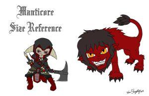 Manticore Size Reference by Shapshizzle