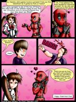 Deadpool and Nanoha Valentine's day special by Evil-Rick