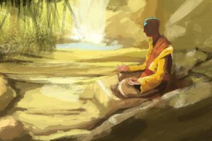 Avatar Aang Meditation by Sporkerang
