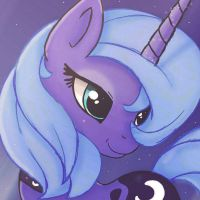 ...MLP FIM Luna icon... by Joakaha