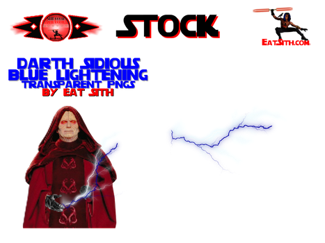 STOCK:STAR WARS DARTH SIDIOUS BLUE LIGHTENING by Eat-Sith