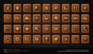 Wooden Icons with Glass v1 by Iwantchitzz