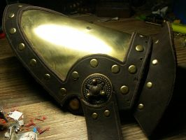 Steampunk Shoulder armour WIP by inkfeather