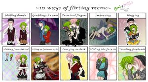 10 Ways Of Flirting Meme GumixYuuma (Roro) by GiStil
