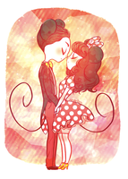 mickey and minnie by mayakern