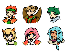 FE 9-10 CHIBI FACES by hugfiend