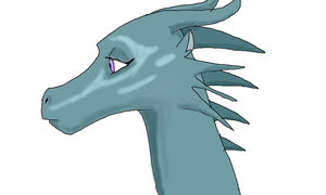 The Blue Dragon by MarianneLoveDrawing