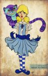Alice and Chesire Cat by realgoodpizza