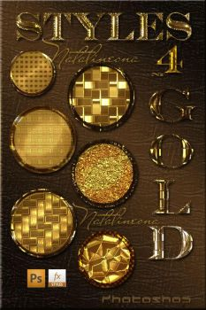 Gold bright styles for Photoshop 4 by Natalivesna