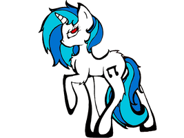 Vinyl Scratch Drawing Made Vector by PlanetaryPenguin