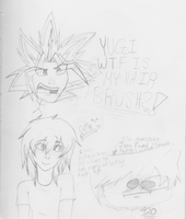 derpy YGO sketches at 3 in the morning lol by PartyRockingPikachu