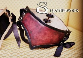 Bloody Wine Collar by SqLeatherwork