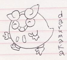 Darumaka doodle by thegaygamer