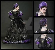 PVC Tudor Carnivale Dress Back by Clockwork-Butterfly