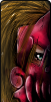 Bookmark - Red demon by pinafta1